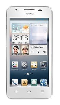 Huawei Ascend G510 Smartphone débloqué (4.5 pouces - 4 Go) Blanc (import Espagne)