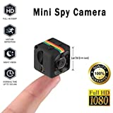 Mini Wireless Hidden Spy Camera Secret Micro Security Cameras for Indoor or Outdoor Surveillance Home Office or Car Video Recorder with 1080p HD Recording and Night Vision 1 Cubic Inch (Color: BLACK, Tamaño: SMALL)