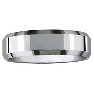 7mm Beveled Tungsten Wedding Band, Available Ring Sizes 8-12.5, Ring Size 11 $15.97