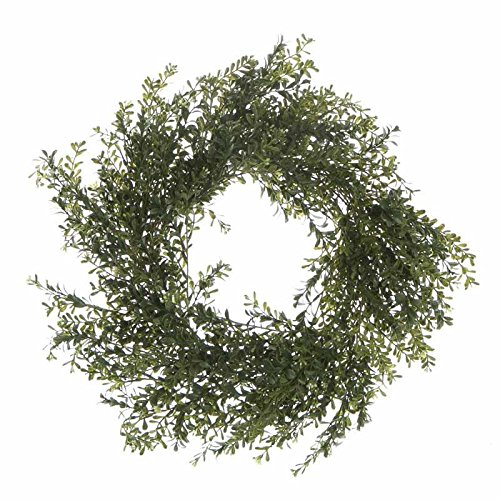 Voluminous Artificial Boxwood Greenery and Twig Wreath for Home Decor, Crafting and Displaying