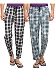 Maxis Men's Cotton Pyjama Bottoms(Pack Of Two)