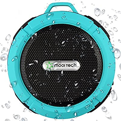 Bluetooth Shower Speaker and Best Portable Waterproof Speaker with Outdoor & Indoor Usage, PLUS Money Back Guarantee and Pairs with ALL Mobile Phones and Wireless Speakerphone