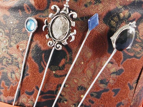 Mad Hatter Hat Pins - Set of 4