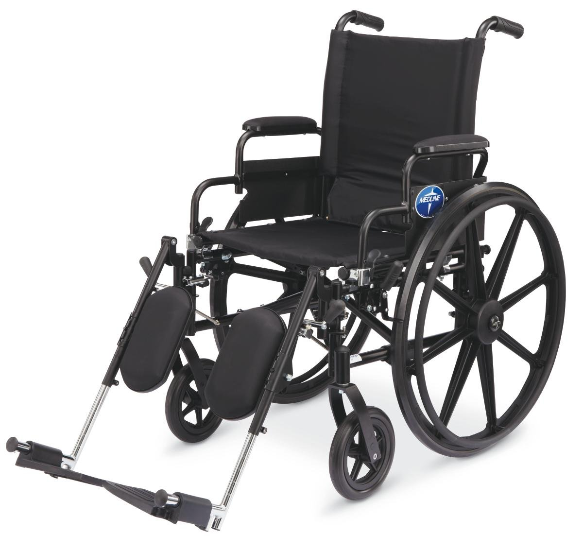 medline-excel-k4-wheelchair-black