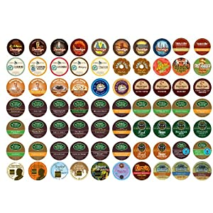 Crazy Cups Coffee Only Sampler Pack, K-Cup Portion Pack for Keurig Brewers 70-Count