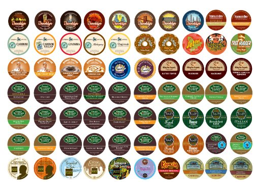 Crazy Cups Coffee Only Sampler, Single-cup coffee pack sampler for Keurig K-Cup Brewers, 70-Count