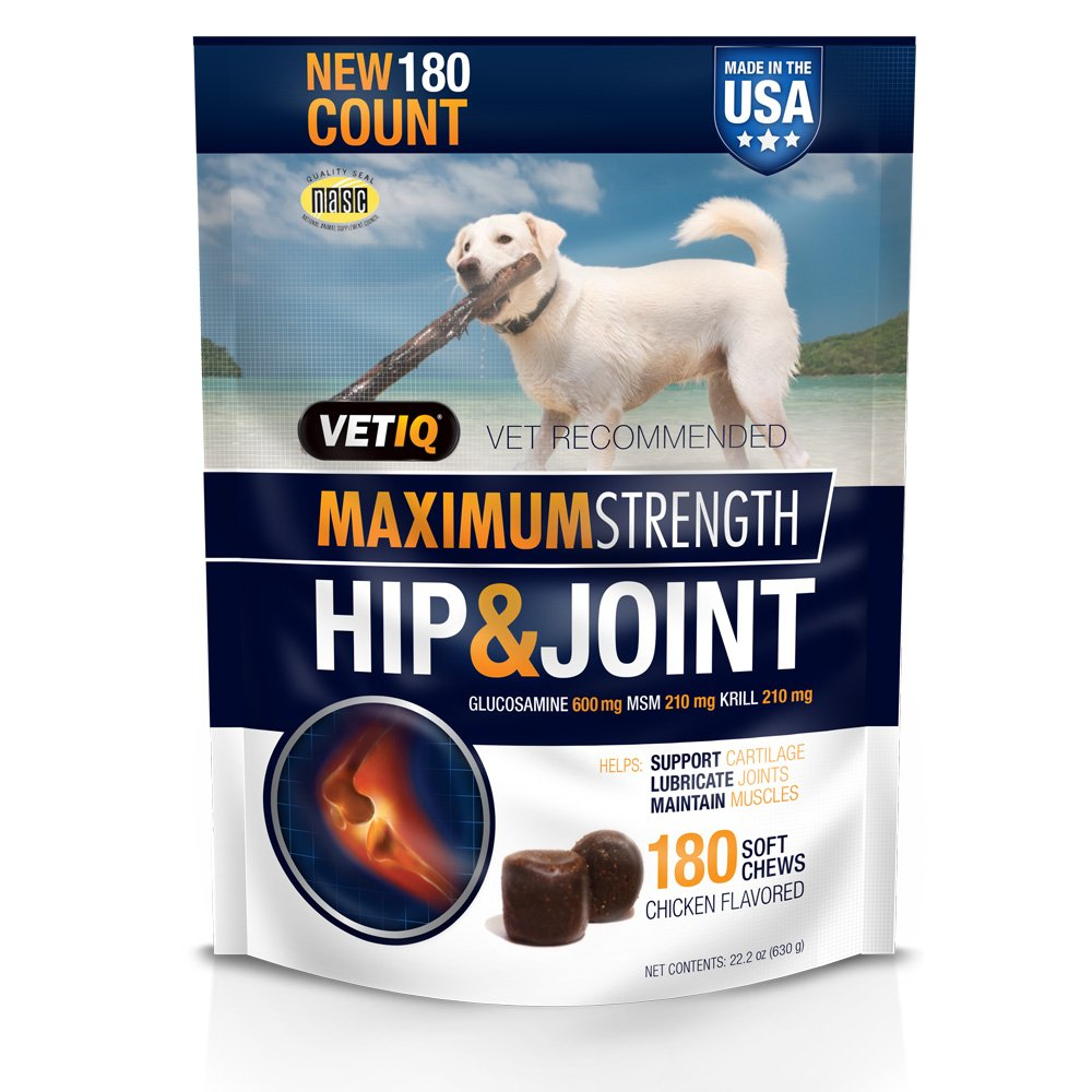 VetIQ Hip & Joint Soft Chew Treats for Dogs, 22.2oz