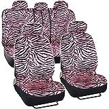 Seat Cover 11pc - Zebra Pink