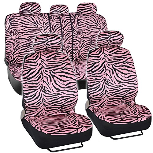 zebra car seat covers classic pink zebra animal print for car suv save 20 with coupon. Black Bedroom Furniture Sets. Home Design Ideas