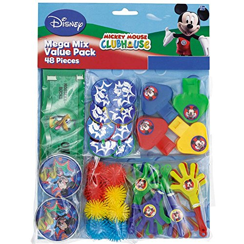 Amscan Disney Mickey Mouse Birthday Party Favors Value Pack (48 Piece), Multi