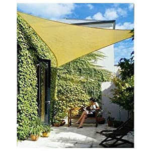 Idirectmart Triangle Sun Shade Sail 18 Feet - Sand Color from iDirectMart