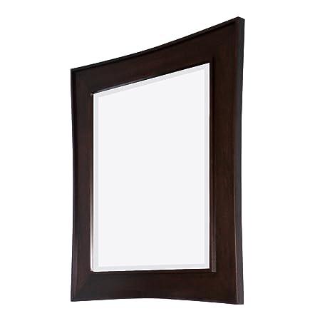 American Imaginations Transitional Birch Wood-Veneer Wood Mirror , 32-in. W x 36-in.H, Dark Mahogany