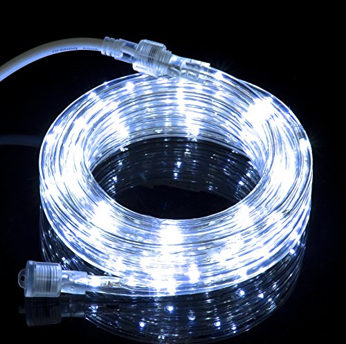 10 6ft cool white led flexible rope light kit for indoor outdoor lighting home garden patio. Black Bedroom Furniture Sets. Home Design Ideas