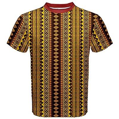 Brown African Geometric Ornament; Men's Sport Mesh Tee
