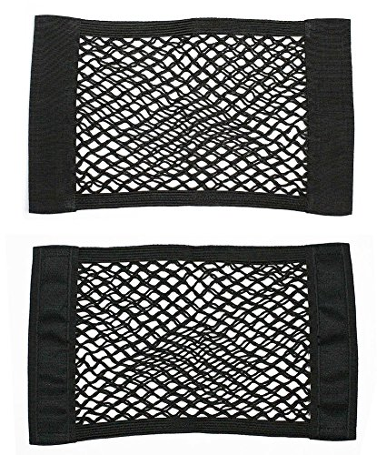 Yosoo 2 Pack Black Magic Sticker Storage Net for Bottles, Groceries, Storage Add On Organizers for Car / Truck / Trunk (Black Magic Console compare prices)