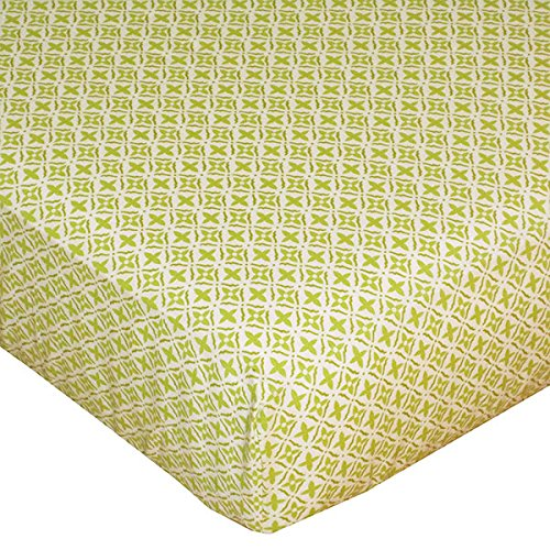 Lolli Living Poppy Seed Fitted Sheet, Green Morocco (Discontinued by Manufacturer) - 1