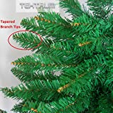TEKTRUM 7-feet ARTIFICIAL CHRISTMAS FIR PENCIL TREE WITH TAPERED BRANCH TIPS FOR CHRISTMAS/HOLIDAY/PARTY (Model TD-SYCT-1610D)