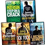 James Patterson James Patterson with Michael Ledwidge Michael Bennett 5 Books Collection Pack Set RRP: £39.95 (Tick Tock, I, Step on a Crack, Run for Your Life, Worst Case)