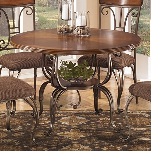 Signature Design by Ashley D313-15B Plentywood Collection Dining Room Table Base, Brown (Ashley Bed Parts compare prices)
