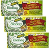 BioBag: Food Waste Certified Compostable, 3 Gallon, 25 ct (3 pack)