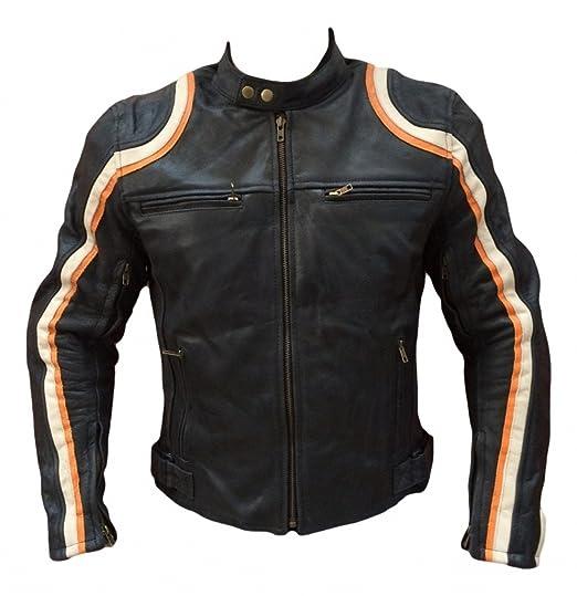 noir et orange course automobile sport moto veste en cuir