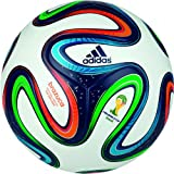 Adidas Brazuca Top Replique Fußball, white/blue/multicolor - weiß/blau/bunt