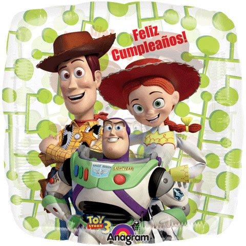 "Toy Story 3 Foil Balloon in Spanish ""Feliz Cumpleaños"" - 1"