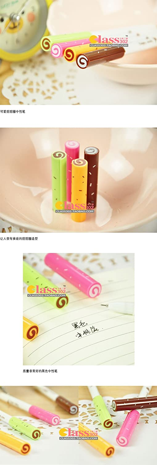 Korean Cute Happy Candy Ink Pen(set of 5) Black 0.38mm Plus One Free Korean Cute Happy Time Ballpoint Pen free shipping picasso 903 high grade signing pen rollerball gift metal ballpoint pen 0 7mm original box wholesale