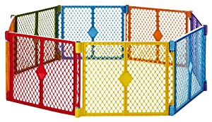 North States Superyard Play Yard, Colorplay, 8 Count