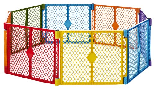North States Superyard Colorplay 8 Panel Playard (North States Super Play Yard compare prices)