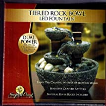 Tired Rock Bowl Led Fountain By Newport Coast Collection