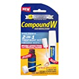 Compound W Freeze Off Wart Removal System | Dual Power 2 in 1 Treatment Kit for Large Warts | 12 Comfort Pads, 0.31 oz Liquid Wart Remover | 8 Applications