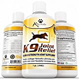 K9 Joint Relief, 32 Ounce, Premium Quality Liquid Glucosamine for Dogs, Relieves Hip and Joint Pain