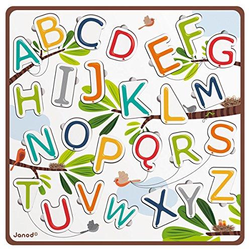 Janod - J07031 - Puzzle Bois ABC Ballons