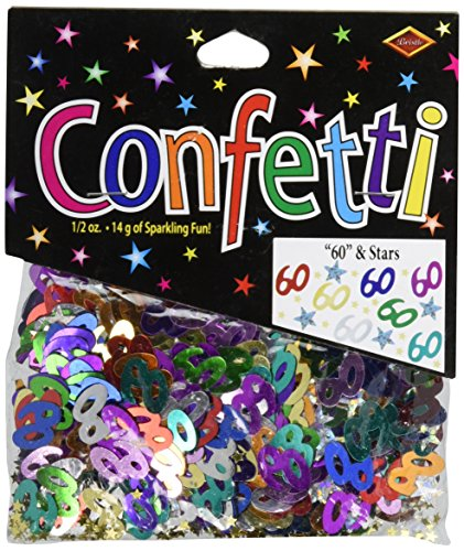 "Sale!! Beistle CN123 ""60"" and Stars Confetti"