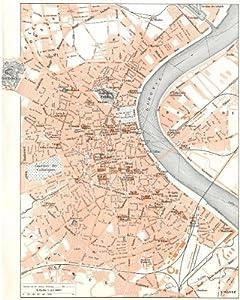 GIRONDE: Bordeaux;1900 map