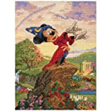 CANDAMAR DESIGNS 5 x 7-inch Disney Dreams Collection Fantasia Counted Cross Stitch Kit