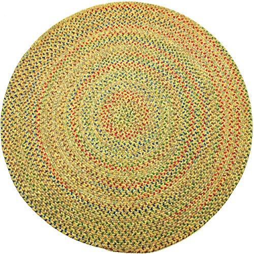 RRI Sonya Indoor/Outdoor Round Reversible Braided Rug, 6-Feet, Sand Multicolor