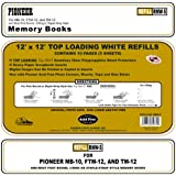 Pioneer Post Bund Top Loading Page Protectors with White Inserts, 12 by 12-Inch, 5-Pack