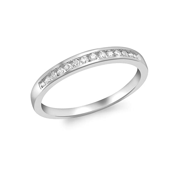 Carissima Gold 9ct White Gold 0.15ct Channel Set Diamond Eternity Ring