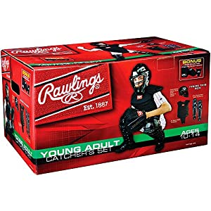 Buy AGES 10-14 Young Adult Catcher's Equipment Full Set (Mask, Chest Protector, Shin... by Rawlings Authentic Sports Shop