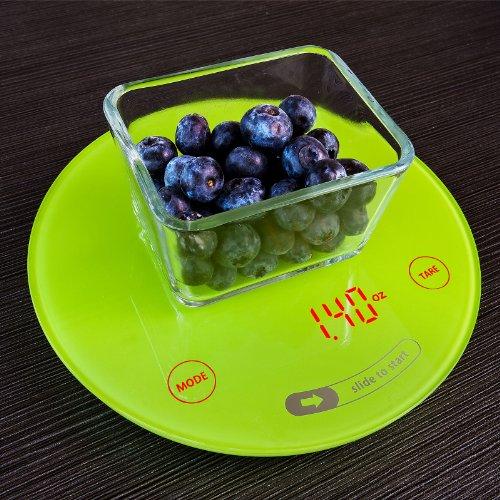 SoBuy EKW06-GR Balance de cuisine électronique, balance culinaire avec fonction Tare, 5kg / 1g. Page Vert