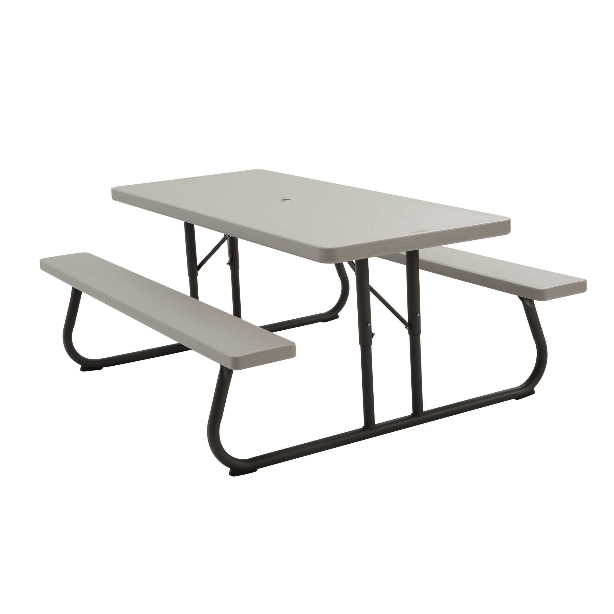 Lifetime 22119 Picnic Table And Benches 6 Foot Putty Putty 6 Ft
