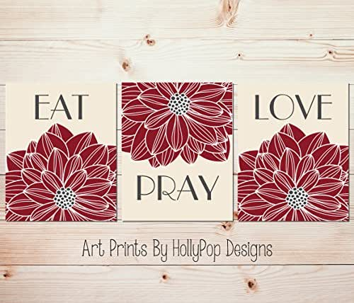 eat pray love wall art dining room wall decor set of 3