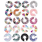 CARCHET® 20 Wheel Assorted Glitte...