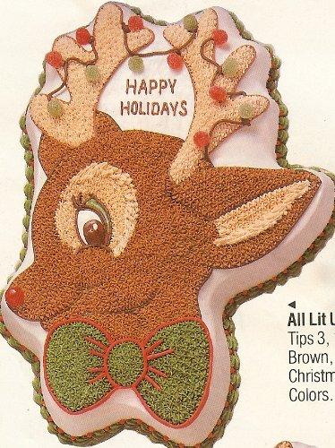 Wilton Cake Pan: Rudy Rudolph Reindeer Christmas Holiday Cake Pan Mold