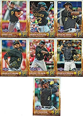 Pittsburgh Pirates 2015 Topps Opening Day MLB Baseball Series Complete Mint 7 Card Team Set with Andrew McCutchen Gerrit Cole Plus