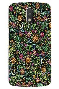 Omnam Pattern Of Flowers Printed Designer Back Cover Case For Motorola Moto G4