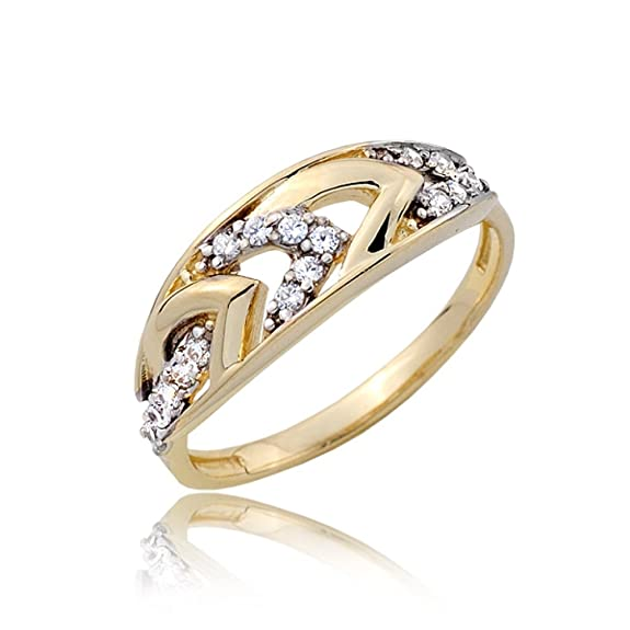 Diamond and gold arrows ring