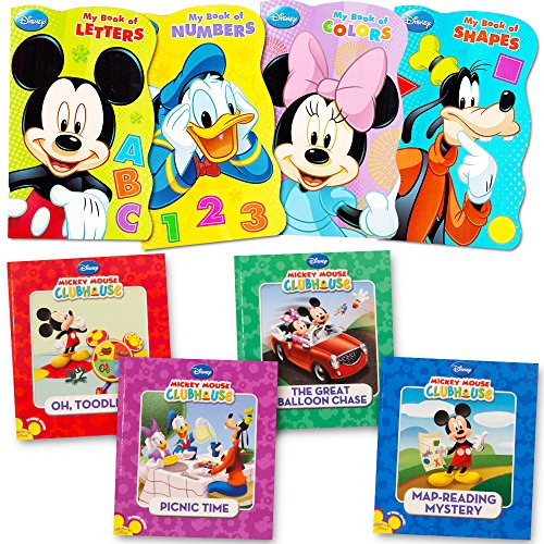 Mickey-Mouse-Clubhouse-Ultimate-Books-Set-For-Kids-Toddlers-Pack-of-8-Books-4-Board-Books-4-Soft-Cover-Books